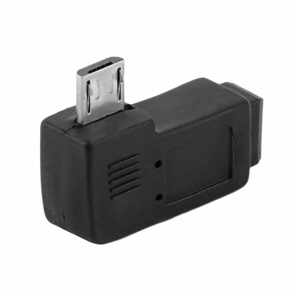 Czarny 3*1.5*0.8cm profesjonalny lewy/prostopadły USB Mini 5 Pin żeński na Micro 5 Pin męski 90 stopni adapter kątowy konwerter
