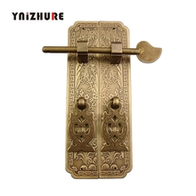 15 см/18 см дверная ручка китайский стиль Ретро Чистая медь Antiqu ручка для мебели пара прямые ручки