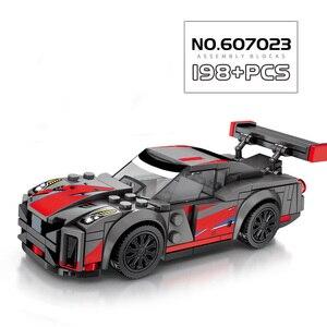 Image 4 - Sembo Block modelo de coche de carreras Speed Champions, la técnica de bloques de construcción, vehículo de ciudad, superracers, deportes, construcción, juguetes, amigos