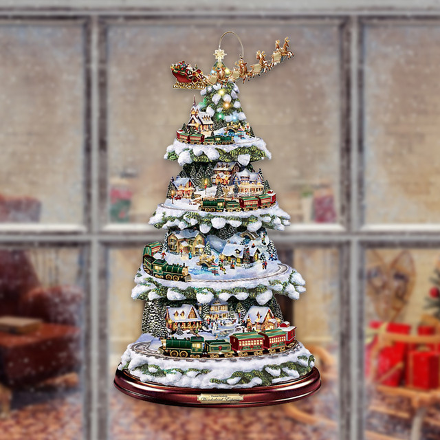 Paintings Wonderland Express Christmas Tree 3