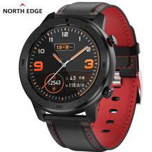 цена на North Edge Men Full Touch Screen Smart Watch Heart Rate Monitor Bluetooth Sport Fitness Tracker Watches For IOS Android Phone