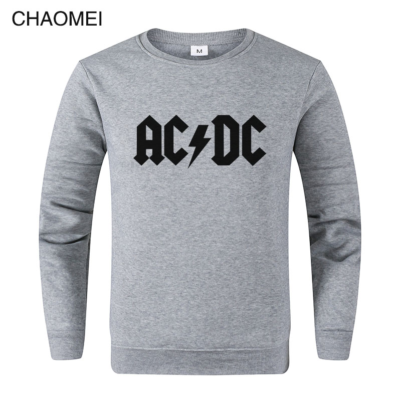 AC DC Sweatshirt Men Hip Hop Rock Band ACDC Sweatshirts Male Casual Streetwear Jackets Spring Winter Tops C106