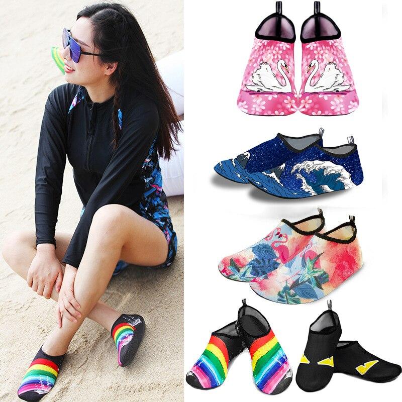 Men Beach Aqua Socks Women Kid Swimming Water Sport Barefoot Sneaker Gym Yoga Fitness Dance Swim Surfing Diving Snorkeling Shoes