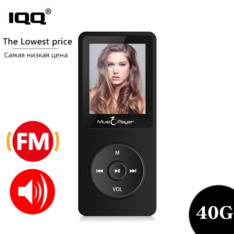 IQQ New Version Ultrathin MP3 Player X02 Built-in 40G And Speakers Can Play 80H Lossless Portable Walkman With Radio /FM/ Record