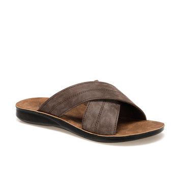 FLO męskie kapcie 2020 New Arrival letnie japonki męskie wysokiej jakości plażowe sandały antypoślizgowe Zapatos Hombre obuwie KINETIX PINN Brown tanie i dobre opinie Indoor Trzciny