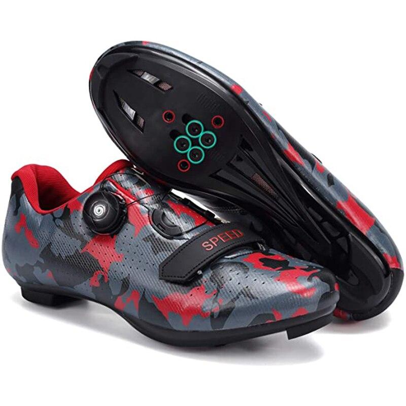 Кроссовки велосипедные для мужчин и женщин, профессиональная дышащая обувь для велоспорта, самоблокирующиеся, легсветильник