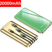 Battery-Pack Power-Bank iPhone Xiaomi External 20000mah with Charging-Cable for Samsung