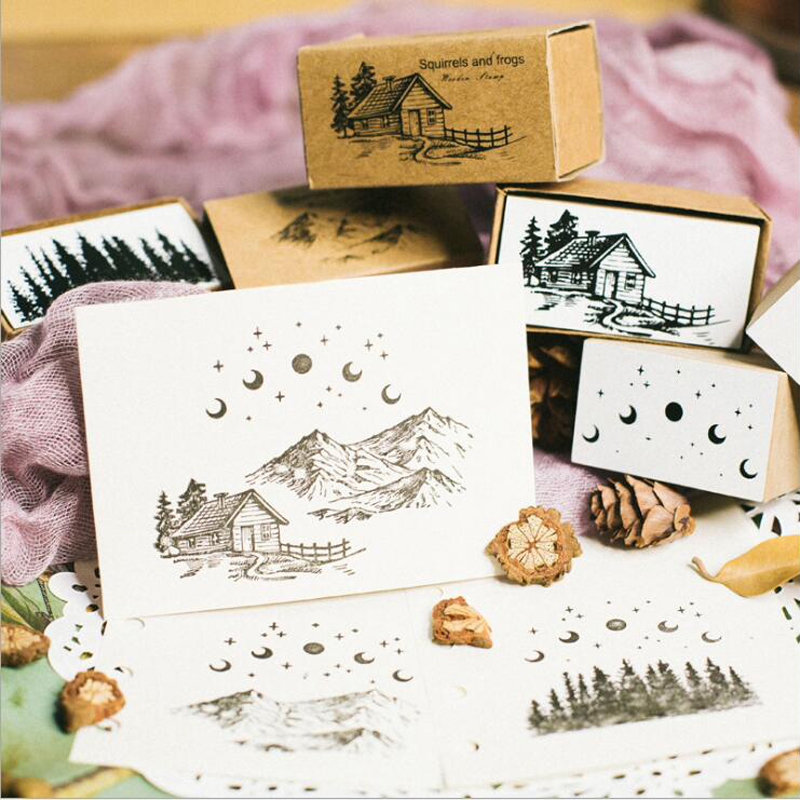 Image 2 - Vintage jungle series stamp DIY wooden rubber stamps for scrapbooking stationery scrapbooking standard stamp-in Stamps from Home & Garden