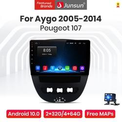 Junsun V1 Pro 4G Android 10 Car Radio Multimedia Player For PEUGEOT 107 For Citroen C1 For Toyota Aygo 2005 - 2014 Navigation