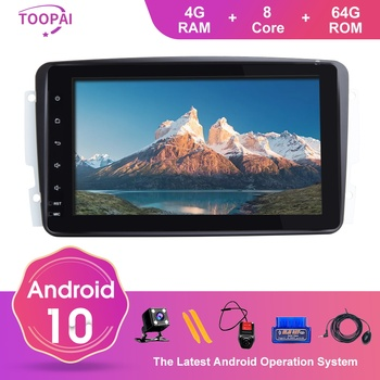 TOOPAI Android 10 For Mercedes Benz CLK W209 Vito W639 Viano 1998-2005 Canbus Auto Radio GPS Navigation Car Multimedia Player image