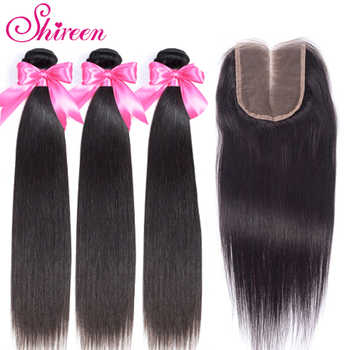 Shireen Brazilian Straight Hair Bundles With Closure 3 Bundles With Closure 4pcs Brazillian Hair Weave Bundles With Closure Remy - DISCOUNT ITEM  50% OFF All Category