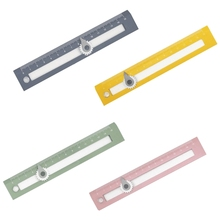 Geometry Ruler w/ Compass Plastic Ruler Straight Edge Rulers For Kids Rulers For School Supplies for School Office T3LB