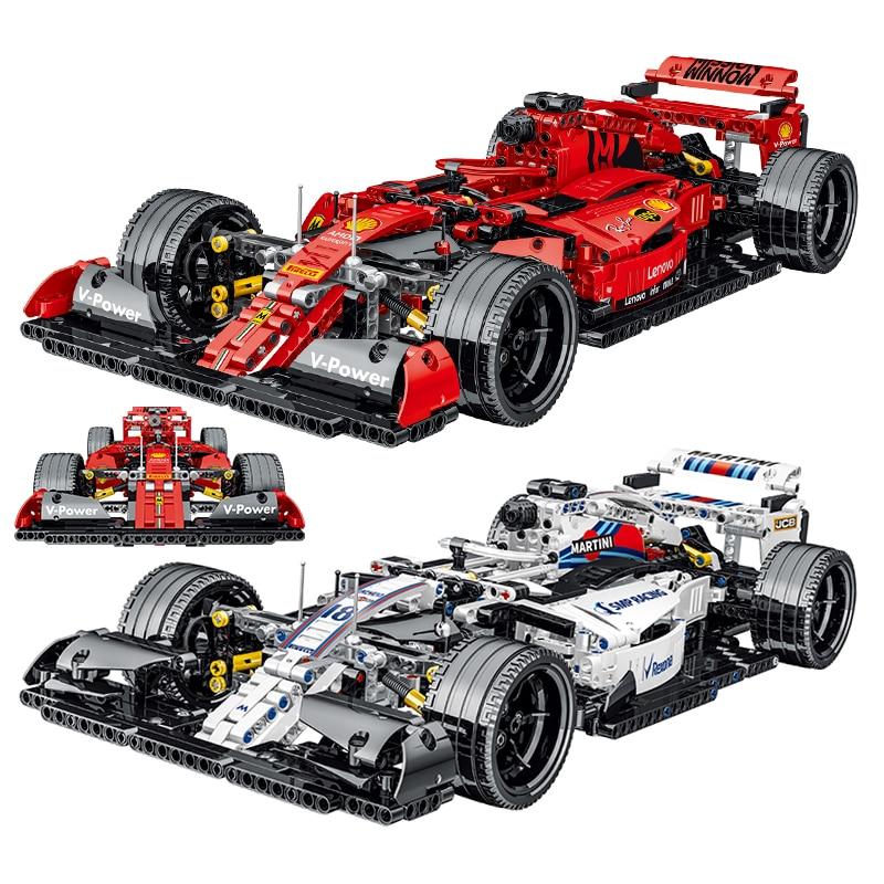 High-tech Series Simulation F1 Racing Car Model Building Blocks Creator Car Toys Children Kids Christmas Toys Boys Gifts