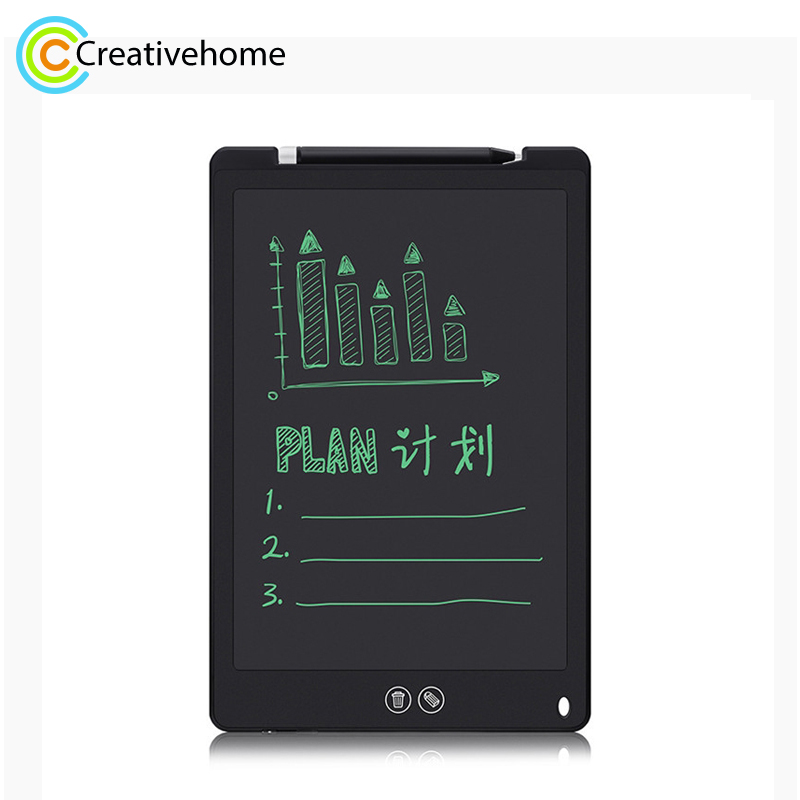 12-inch LCD Writing Tablet, Supports One-click Clear & Local Erase (Black)