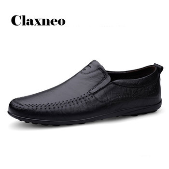 CLAXNEO Man Moccasin Genuine Leather 2020 Spring Summer Shoes Male Loafers Slipons Casual Footwear clax men Boat Shoe