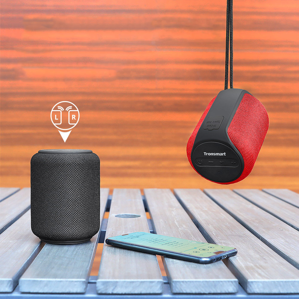 Tronsmart T6 Мини Bluetooth динамик беспроводной портативный динамик TWS спикер с IPX6, голосовой помощник, 24 часа воспроизведения