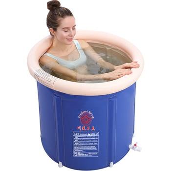 Bath Collapsible Portable Adult Bath Tub Household Bath Barrel Convenient Adult Bathtub Large Simple Inflatable Deep