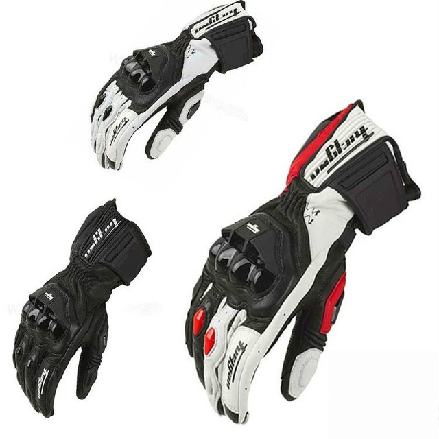 2020 New Men's Racing gloves Leather Carbon fiber Gloves Bicycle Cycling AFS 6 Motorbike Road Moto Motorcycle Gloves 4