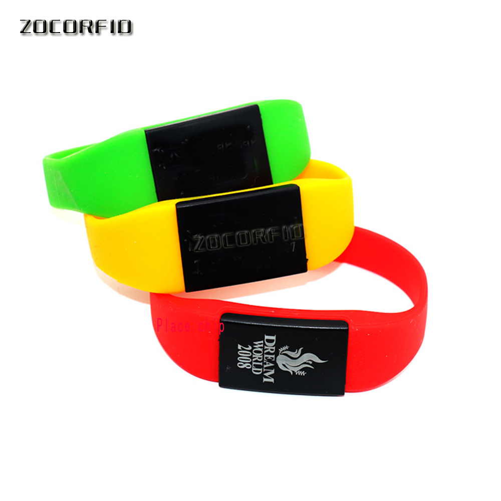 125KHZ T5577/EM4305 Rewritable RFID Bracelet Silicone Wristband Watch Copy Clone Blank Card In Access Control Card