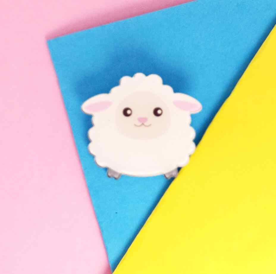 Broche Para a Menina Moda Feminina Coleção Homens Menino Broche Pin Badge Rodada Bonito Veados Cão Frango Animais Doce Presente da Criança adorável