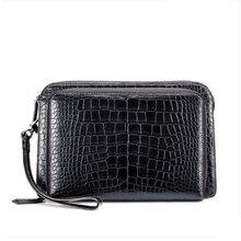 gete Crocodile belly handle bag fashionable business light luxury men zipper bag with large capacity crocodile men clutch bag все цены