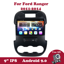 Android 9.0 Car Radio Stereo Multimedia Player for Ford Ranger xlt 2011 2012 2013 2014 9 inch car DVD GPS Navi 2 Din No 2Din IPS недорого