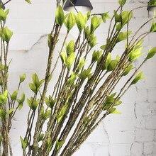 Моделирование сухой лозы искусственные растения зеленый лист ветка дерева DIY домашний Декор Горячая