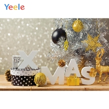 Yeele Christmas Photocall Bokeh Lights Decors Gifts Photography Backdrops Personalized Photographic Backgrounds For Photo Studio