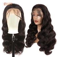 Волнистые парики 13X6, кружевные передние парики, предварительно выщипанные 150% плотность, волнистые кружевные передние парики Remy, бразильски...
