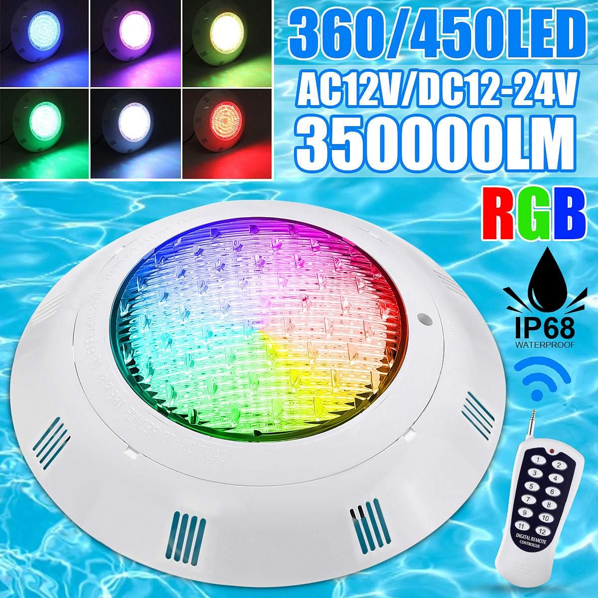 35W RGB Led Piscina Luz 360LED IP68 impermeable 360 LEDs al aire libre RGB Luz subacuática estanque Led Piscina Luz Spotlight Cámara de acción deportiva para exterior, Mini cámara subacuática, impermeable, pantalla de múltiples colores, resistente al agua, grabación de vídeo