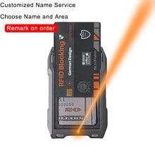 Portfel niestandardowy Rfid metalowy portfel na karty mężczyzn portfele laserowe dostosowane oryginalny prezent Slim cienki portfel personalizowane prezenty dla mężczyzn 2021