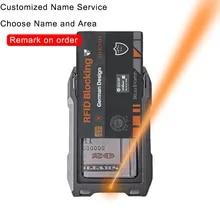 Custom Wallet Card-Holder Gifts Metal Rfid Personalized Men for Laser Thin Slim Original