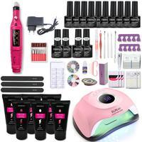 Kit per Gel per unghie in polietilene Set per Manicure con lampada per unghie a Led Set di smalti UV ibrido per estensione delle unghie smalto per unghie in acrilico