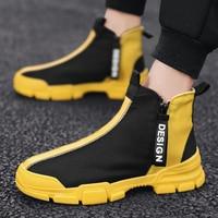 Fashion Men Shoes New Men Casual Shoes High Top Sneakers Men Vulcanized Shoes Man Flats Quality Mens Sneakers zapatos de hombre