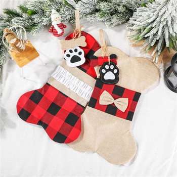 Christmas Stockings Personalized Christmas Socks Gift Pet Decoration Bags Christmas Ornaments And Decorations New Year 2020 image