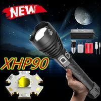 Für Dropshipping led taschenlampe XHP90 Taschenlampe power 26650 batterie leistungsstarke Taktische Flash licht taschenlampe für outdoor jagd|Taschenlampen|Licht & Beleuchtung -