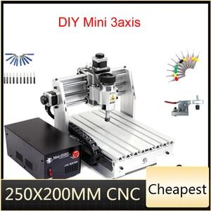 Image 1 - 미니 CNC 밀링 머신 2520 cnc 조각 기계 250*200mm 작업 영역 cnc 라우터
