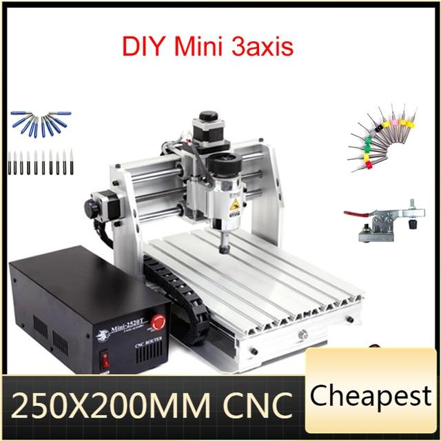 Mini, fraiseuse CNC, machine à graver 2520 cnc, surface de travail 250x200mm, routeur cnc