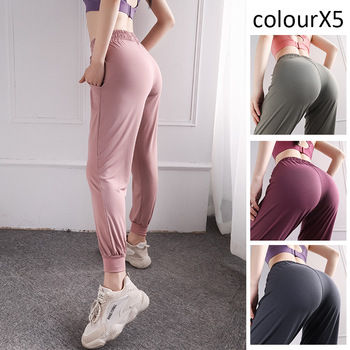 Women Leggings High Waist Peach Hips Gym Quick-drying Sports Stretch Fitness Pants Slim Trouser Large size