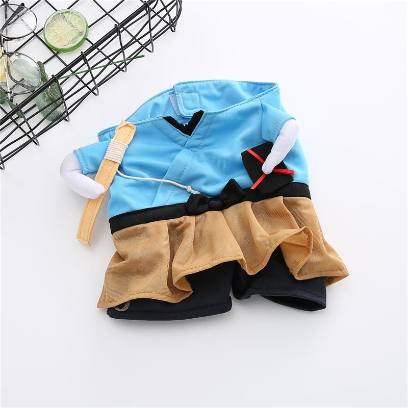 Funny Cat Dog Costume Uniform Suit Cat Clothes Costume Puppy Clothes Dressing Up Suit Party Clothing For Cat Cosplay Clothes 8