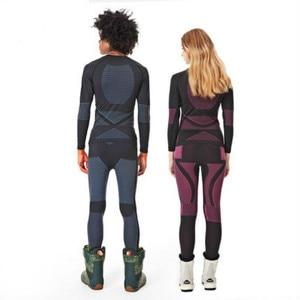 Image 2 - SMN Thermal Ski Underwear Set Adult Women Breathable Wicking Snowboard Underwear Winter Outdoor Sports Ski Clothing
