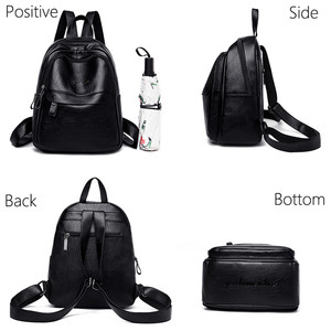 Image 3 - 2019 Female Leather Backpacks High Quality Ladies Bagpack Luxury Designer Large Capacity Casual Daypack Girl Mochilas Sac A Dos