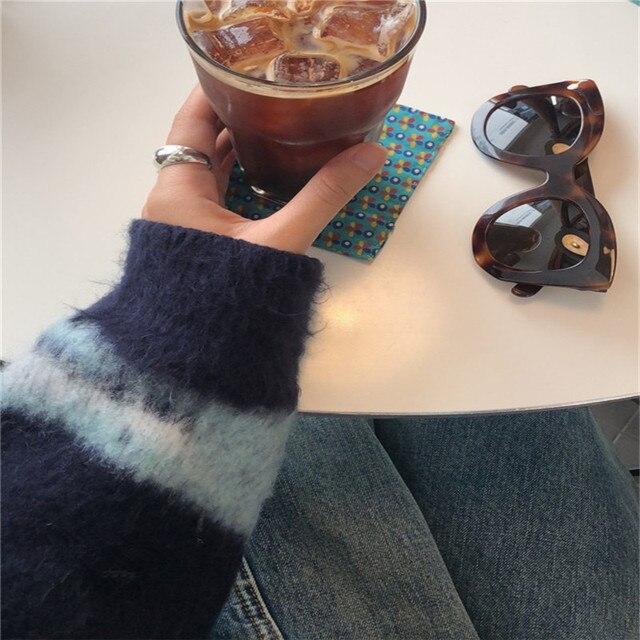 Фото камуфляжный шикарный винтажный мохеровый универсальный свитер цена