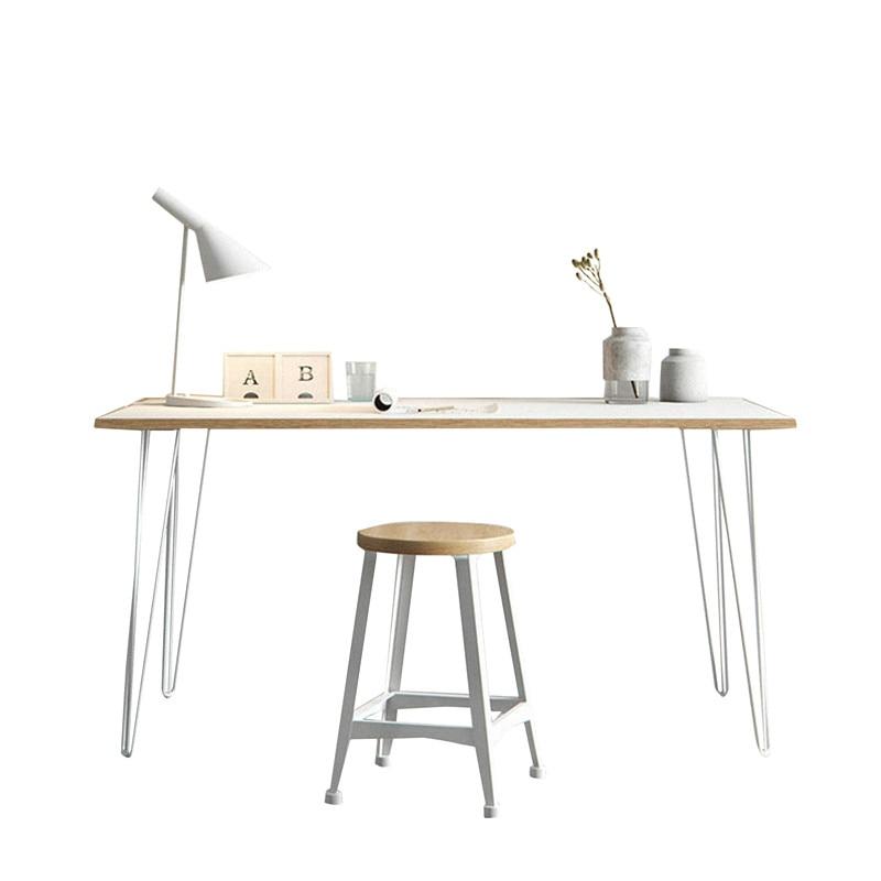 Northern Europe Simple Solid Wood Bedroom Desk Antique Office Desk Chair Household Computer Desk Designer Desk 1.2 Meters
