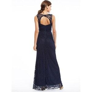 Image 4 - Dressv 로얄 블루 특종 목 긴 저녁 드레스 구슬 민소매 저렴한 결혼식 파티 공식 드레스 칼집 이브닝 드레스