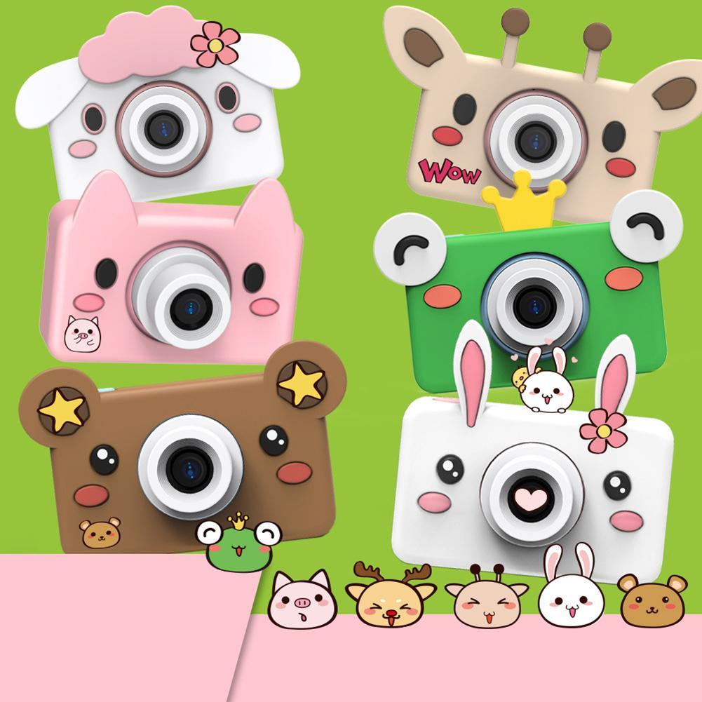 Haute qualité mode enfants caméra mignon dessin animé Animal 1600W Pixels Mini enfants caméra numérique antichoc caméscope