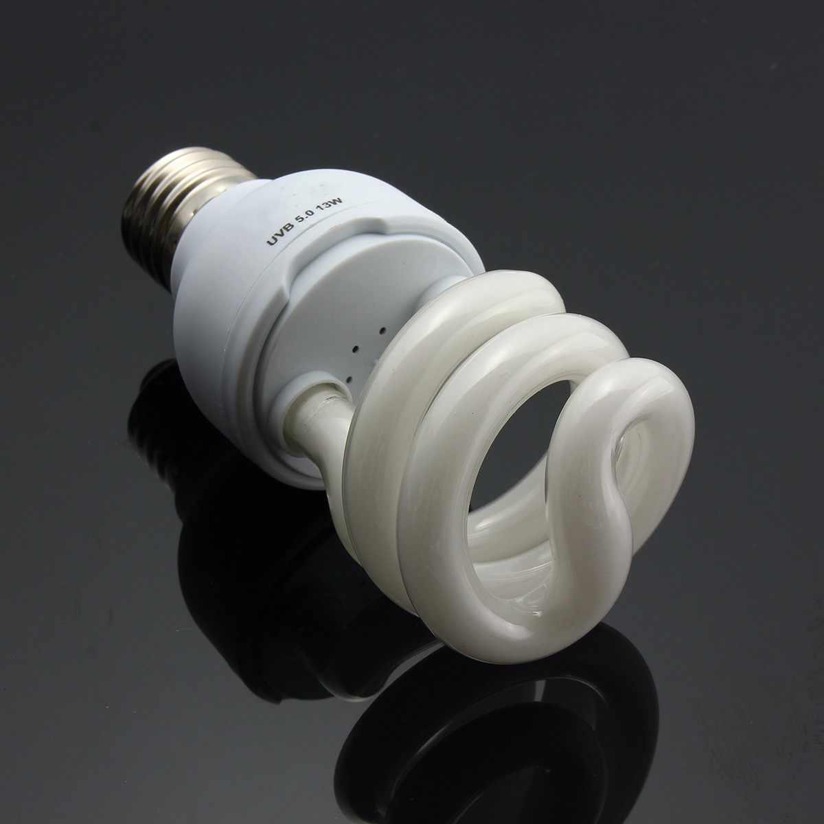 AC220V 13W Günışığı Ampul Pet Sürüngen hafif parlamalı ısı yayıcı lamba Için Vivaryum Teraryum Kaplumbağa Kaplumbağa Balık Amfibi