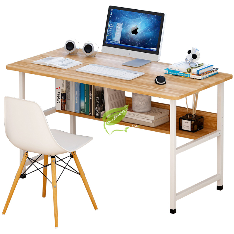 Minimalist Computer Desk Desktop Home Desk With Storage Writing Desk Student Simple Desk Bedroom Assembly Single Small Table