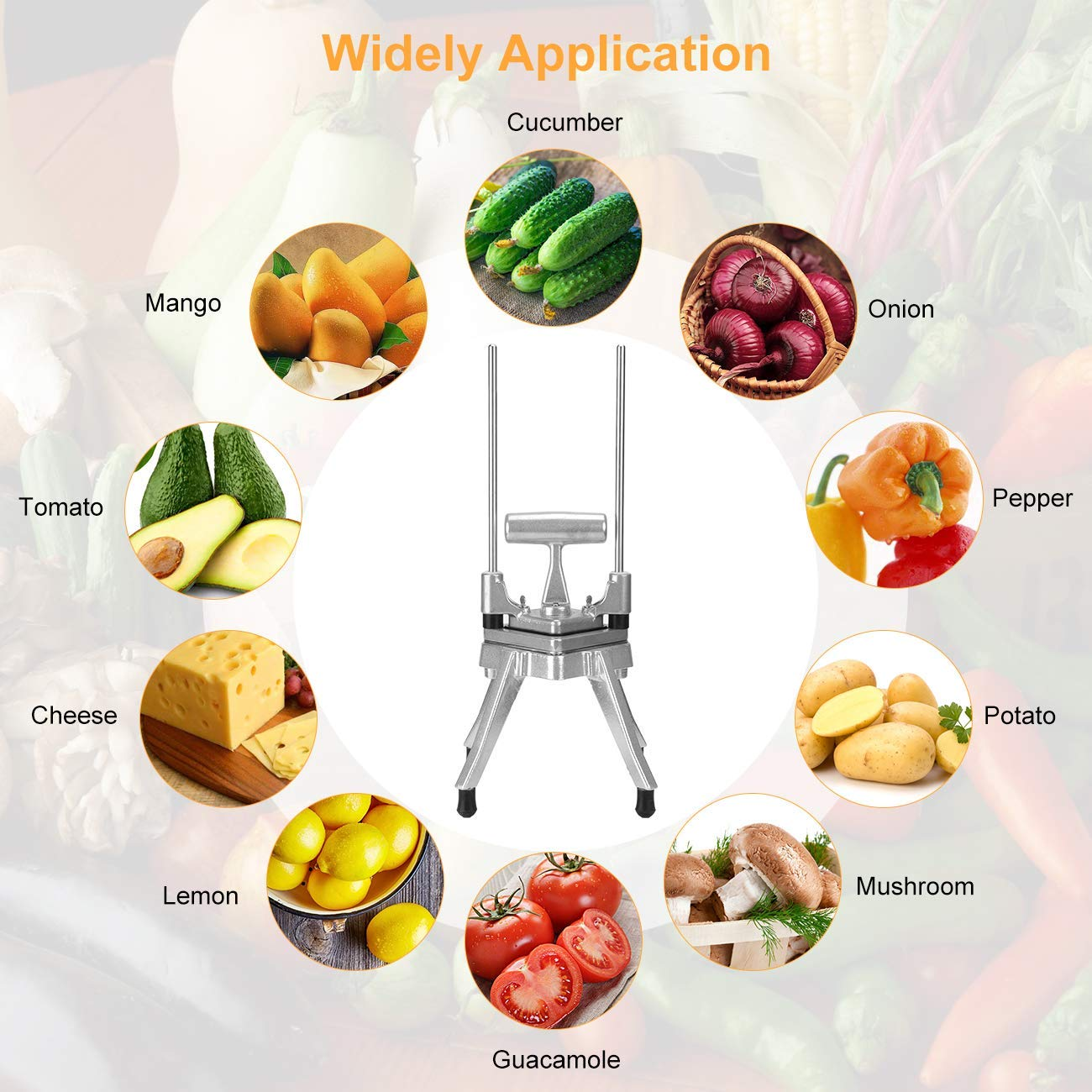 Fruit Vegetable Cutter Vegetable Cutter for Fruits//Citrus//Cucumbers//Onions//Tomatoes Suitable for Home and Business 8 Section Tomato Dicer Slicer