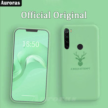 Auroras Phone Case For Redmi Note 8 Pro Official Original Full Protection Soft Liquid Silicone Elk Case For Redmi Note 8 Funda(China)